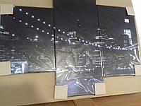 Картина-модульная (Фото-картина) Ночной Бруклинский мост
