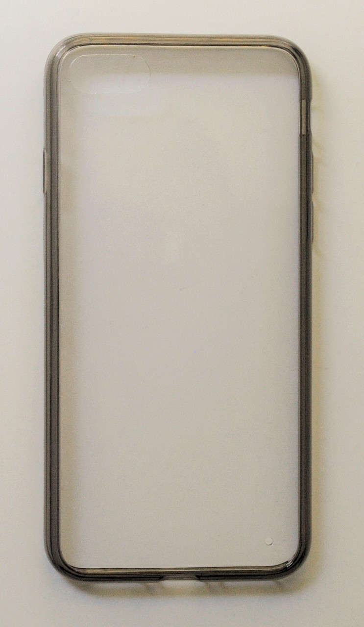 Чехол на Айфон 7 Силикон 0.5 мм с пластиком Прозрачный Белый