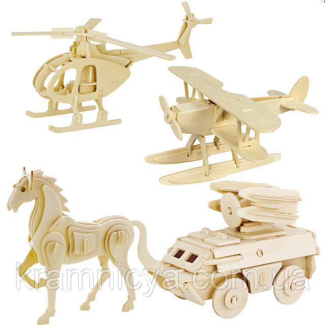 Купить деревянные 3D-пазлы