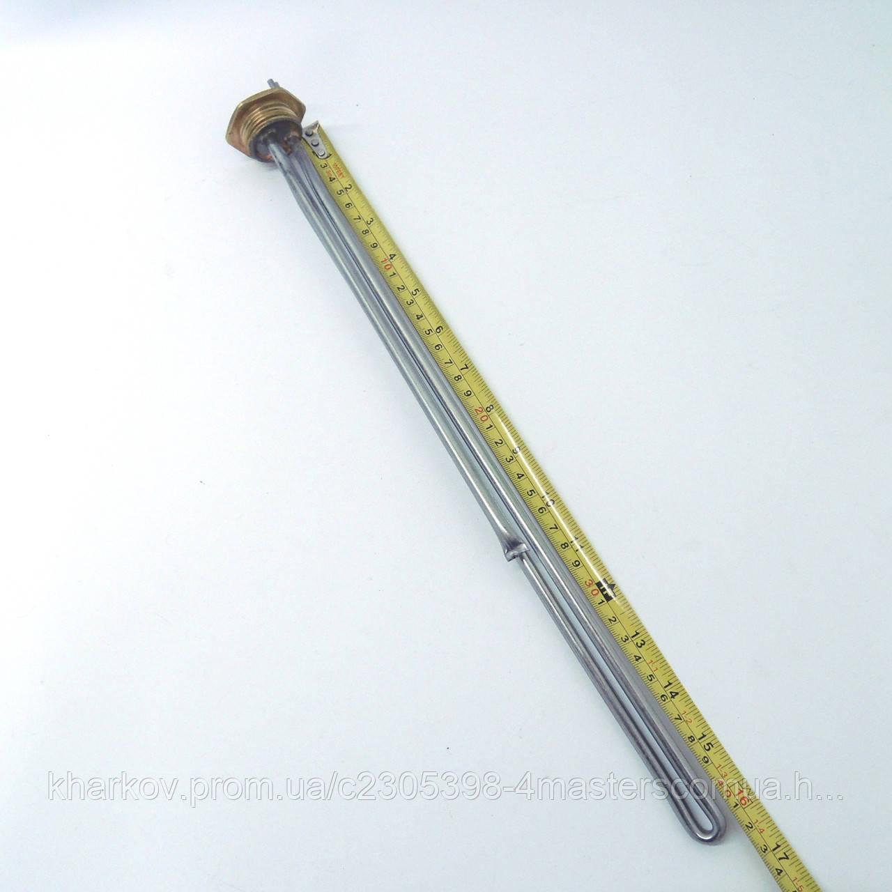 """ТЭН 2000 Вт для алюминиевого радиатора, резьба G 1"""" (32,8 мм)"""