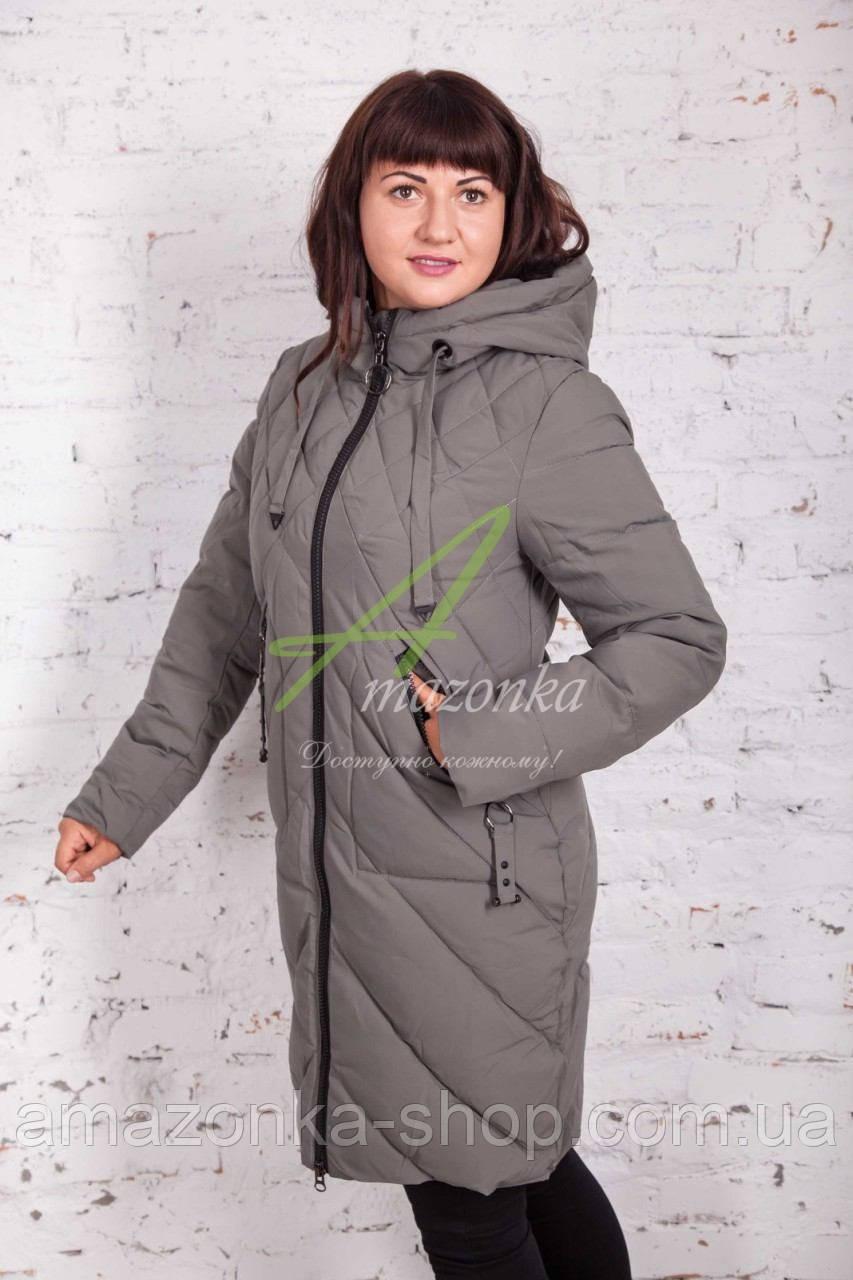Модное женское пальто сезона зима 2017-2018 - (модель кт-3)