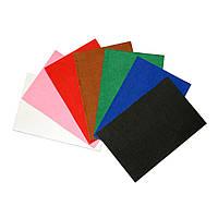 Фетр клеевой жесткий 1 мм в наборе 7 цветов, 20х30 см