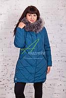 Женское зимнее пальто больших размеров 2017-2018 - (модель кт-146)