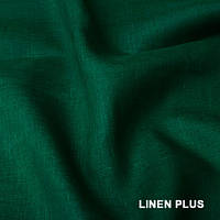 Зеленая льняная ткань 100% лен, цвет 978