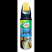 Очиститель и кондиционер кожаной оббивки Turtle wax power out Leather Cleaner Odor-x 400 мл.