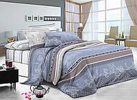 Двуспальный комплект постельного белья евро 200*220 сатин (7791) TM KRISPOL Украина