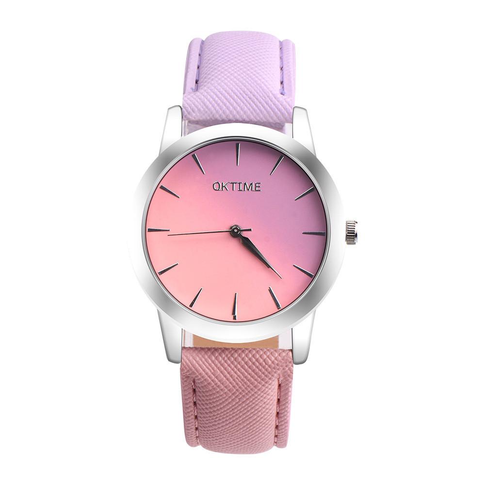 Часы наручные женские OkTime Gradient purple-pink