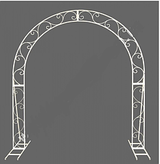Арка свадебная полукруглая плоская разборная
