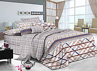 Двуспальный комплект постельного белья евро 200*220 сатин (7335) TM KRISPOL Украина
