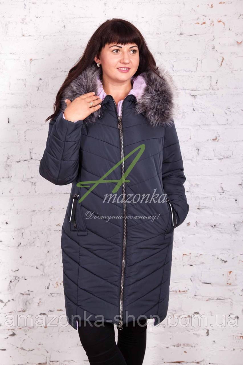 Удлиненное женское зимнее пальто оптом 2017-2018 - (модель кт-149)