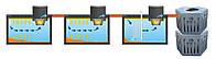 Комплект автономной канализации на 12-15 человек для дачи и дома (расход 3,0 м3 в сутки). Под ключ!