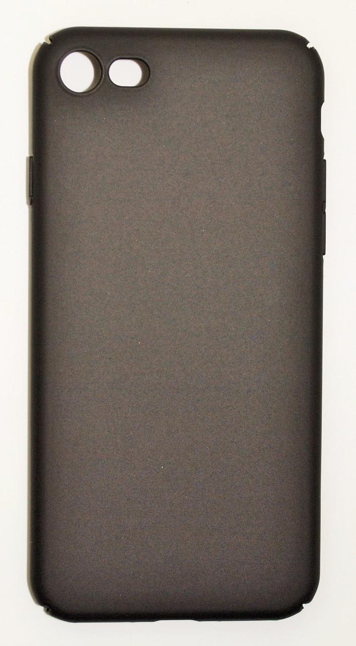 Чехол на Айфон 7 матовый Пластик PC Soft Touch Черный