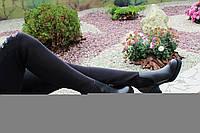 Стильные демисезонные сапоги-чулок натуральная кожа, фото 1