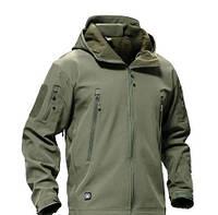 Куртка тактическая Softshell олива, черная