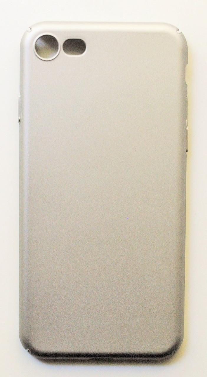 Чехол на Айфон 7 матовый Пластик PC Soft Touch Серый