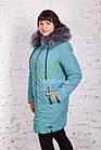 Женская модная зимняя куртка больших размеров 2017-2018 - (модель кт-157), фото 2
