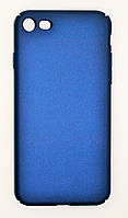 Чехол на Айфон 7 матовый Пластик PC Soft Touch Синий, фото 1