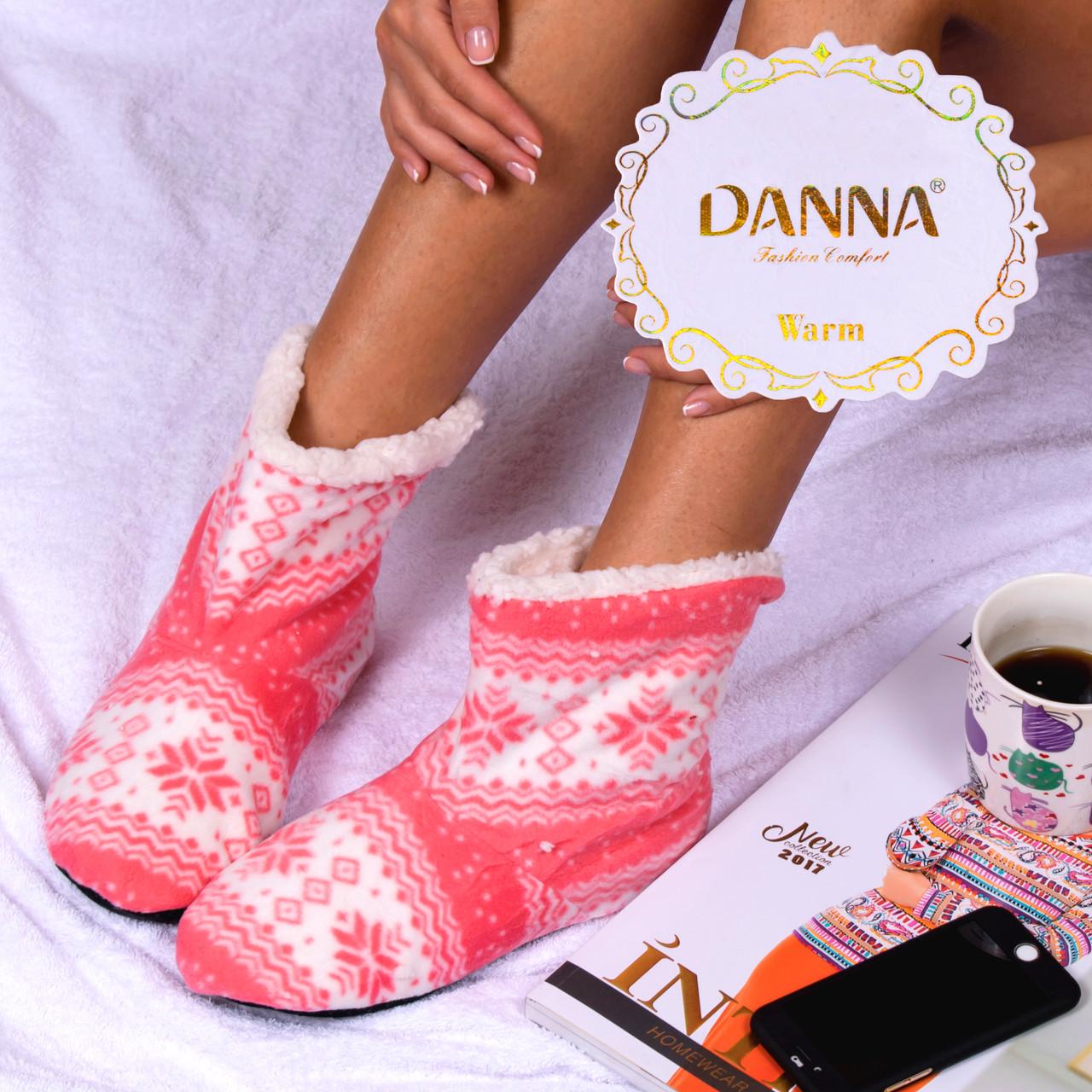 Женские домашние тапочки-угги розового цвета Djan F33 Cinnamon 38-41