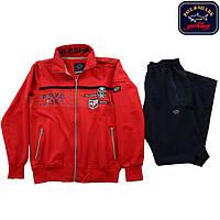 Спортивный мужской костюм Paul&Shark красный ,качество lux . XXL