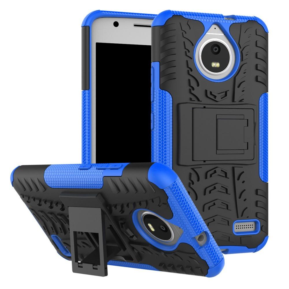 Чехол накладка для Motorola Moto E4 XT1762 противоударный с подставкой, синий