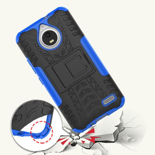 чехол накладка на Motorola Moto E4 XT1762 противоударный синий