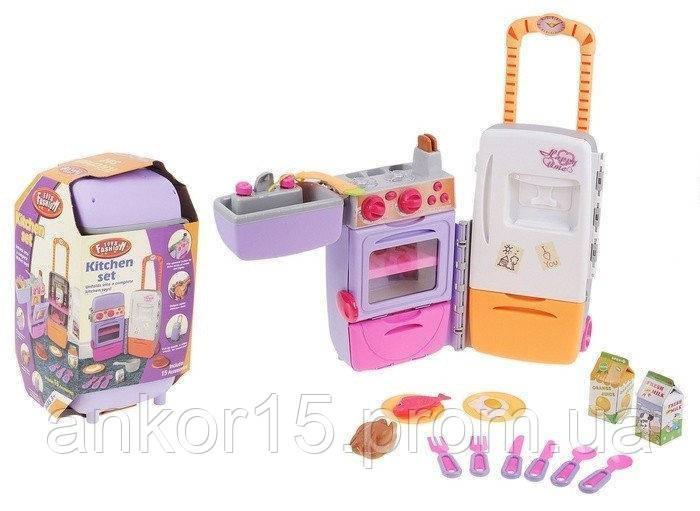 Кухня Детская набор. Холодильник - чемодан, 9911