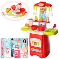 Детская игровая кухня 889-52, 24 предмета. Звуковые и световые эффекты.