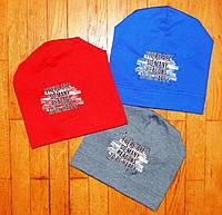 Трикотажные шапки для мальчика Happy 4-6 года
