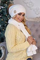 Комплект «Синди» (шапка + шарф) 4501-10 белый
