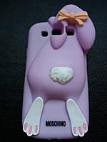 Фиолетовый Зайчик Samsung S3 9300, S3 Duos чехол Moschino, фото 1