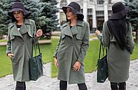 Женское кашемировое пальто до колен