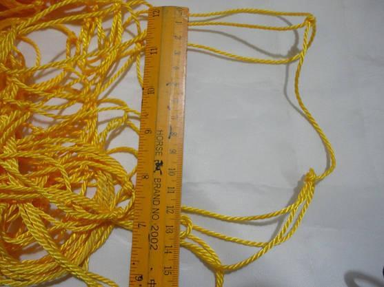 Сетка заградительная  D 2,5 мм. 12 см. ячейка оградительная, для спортзалов, стадионов, спортплощадок, фото 3