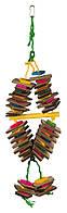Игрушка Trixie Wooden Toy with Sisal Rope, Colourful для попугаев, 18х35 см