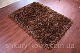 Ковры элитные, шоколадно коричневый ковер травка, ковры лапша, необычные ковры, фото 3