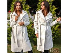 Демисезонное кашемировое пальто с поясом (42-44,46-48 )