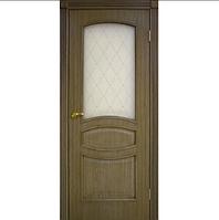 Двери межкомнатные шпон Венеция со стеклом Омис