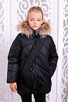 Зимняя детская  куртка для девочки Элма черная