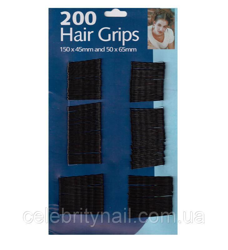 Невидимки для волос на листе 200 шт