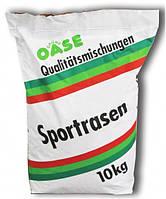 Трава газонная  GruneOase спорт + игра ,10 кг-семена газонной травы устойчивой к вытаптыванию