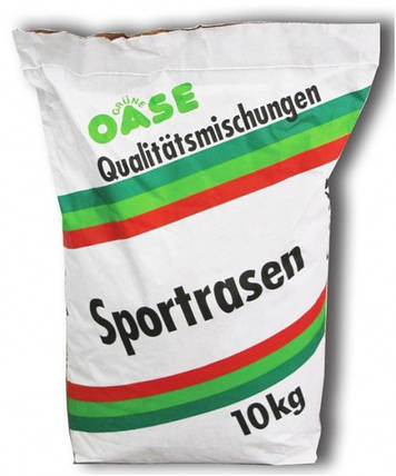 Трава газонная спорт + игра GruneOase, 10 кг — семена газонной травы, устойчивой к вытаптыванию, фото 2