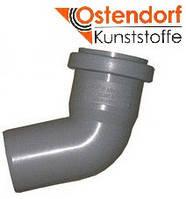 Колено HTB ПП 50х30° Ostendorf (Osma) Германия раструбная с уплотнительным кольцом, серый