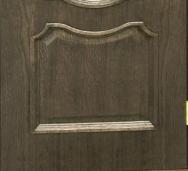 Дверное полотно шпон Верона со стеклом с травлением Омис Дуб шервуд