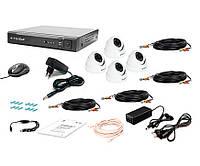 Комплект видеонаблюдения Tecsar AHD 4IN-3M DOME, фото 1