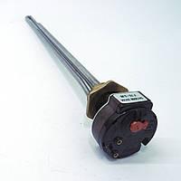 """ТЭН 500 Вт с термостатом 16 А+ аварийка для алюминиевого радиатора, резьба G 1"""" (32,8 мм)"""