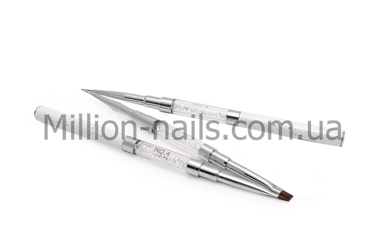 Кисть Double Gel flat 4 (Nylon)/Liner