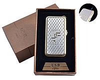 """USB + газовая зажигалка в подарочной упаковке (спираль накаливания, острое пламя) """"Porsche"""" №4819-3"""