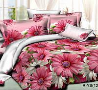 Двуспальное постельное белье с простыней на резинке 160/200/34 Летний сад, ранфорс