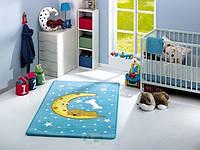 Ковер в детскую комнату Confetti 100*160 - Moon голубой