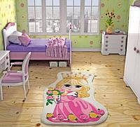 Ковер в детскую комнату Confetti 100*160 - Princess розовый