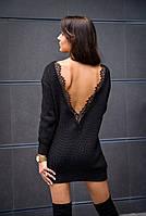 Женские вязаные платья с кружевом, фото 1